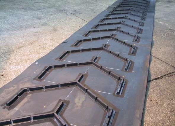 Шевронная конвейерная лента