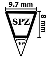 Ремни клиновые профиль SPZ и XPZ